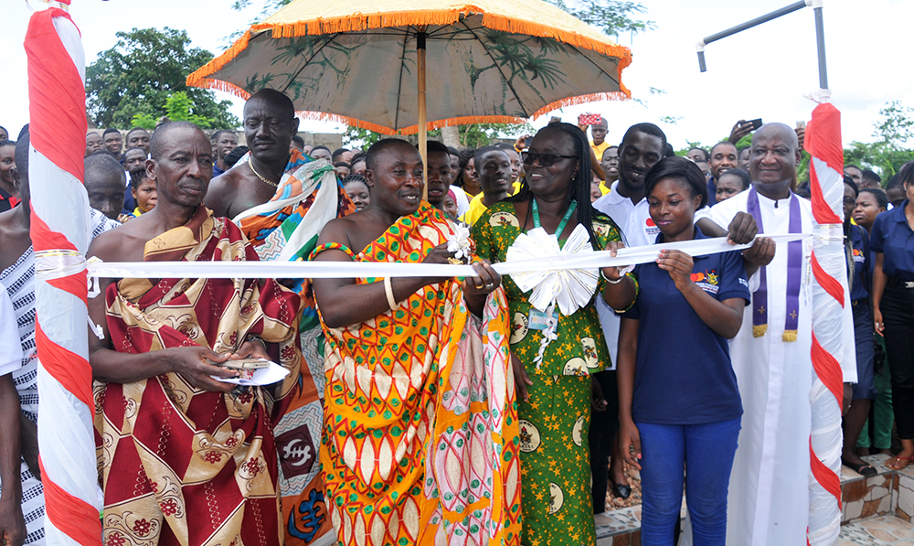 MCFSP at KNUST Commissions Mechanised Borehole at Asakraka Community