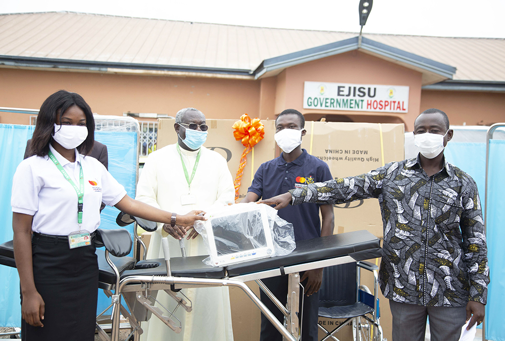 Mastercard Foundation Scholars Donate to Ejisu Government Hospital