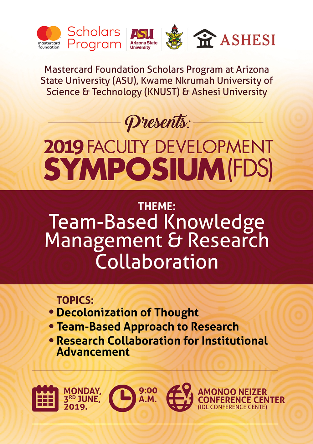 2019 Faculty Development Symposium (FDS)